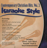 Contemporary Christian Hits, Volume 3, Karaoke Style CD   -