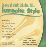 Mark Schultz, Volume 1, Karaoke Style CD   -