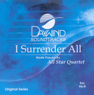 I Surrender All, Accompaniment CD   -     By: All Star Quartet