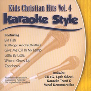 Kids Christian Hits, Volume 4, Karaoke Style CD   -