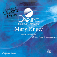Mary Knew, Accompaniment CD   -     By: Brian Free & Assurance