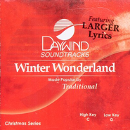 Winter Wonderland, Accompaniment CD   -