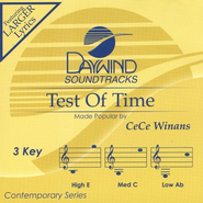 Test Of Time, Accompaniment CD   -     By: CeCe Winans