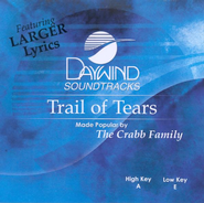 Trail of Tears, Accompaniment CD   -     By: The Crabb Family