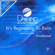 It's Beginning To Rain, Accompaniment CD   -