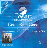 God's Been Good, Accompaniment CD   -     By: Legacy Five