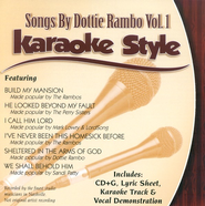 Songs By Dottie Rambo, Volume 1, Karaoke Style CD   -