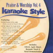 Praise & Worship, Volume 4, Karaoke Style CD   -
