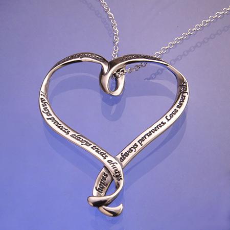 Christian Love patient pendant Necklace