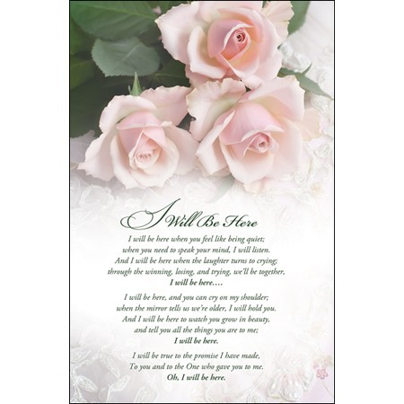 I Will be Here Steven Curtis Chapman Wedding Programs