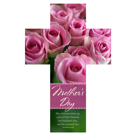 Cross Mothers Day bookmark