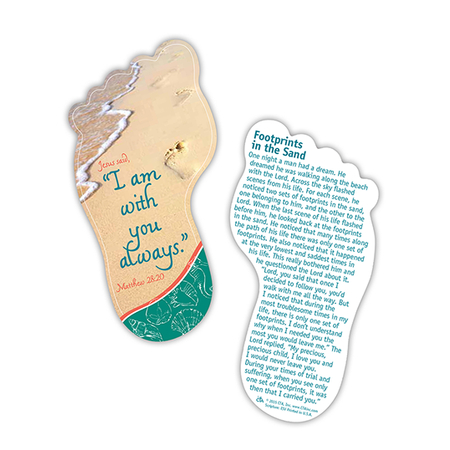 Footprints Bible verse Bookmarks