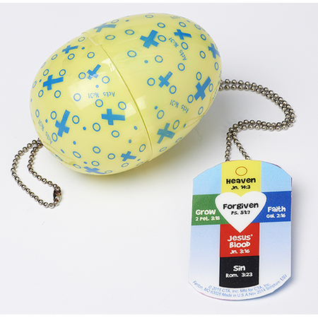 Religious Easter Egg with Cross Pendant