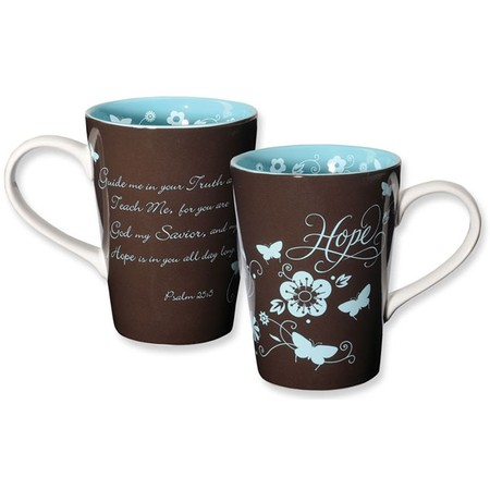 Hope, Virtues Mug, Brown and Blue - - Christianbook.com :  encouraging faith home butterfly