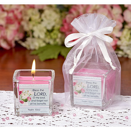 Religious theme gift candle for her