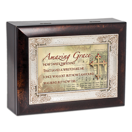 musical Amazing Grace jewelry box