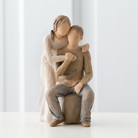 Romantic Christian couple figure Willow Tree