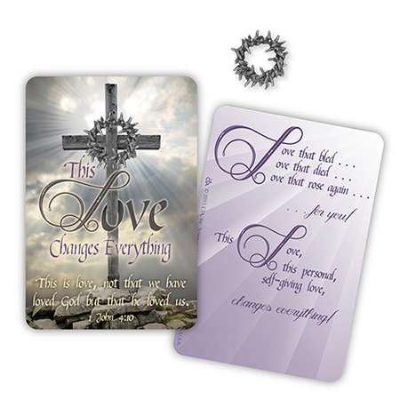 Crown of Thorns pin on Card