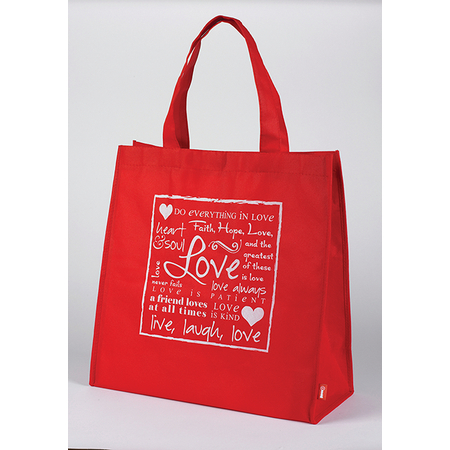 Religious Valentine's Day Love Red Tote Bag Red