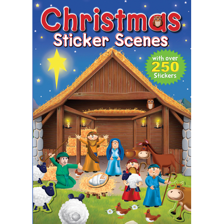 Religious Christmas sticker scene book