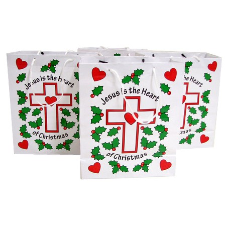 Christmas Jesus is the heart gift bags