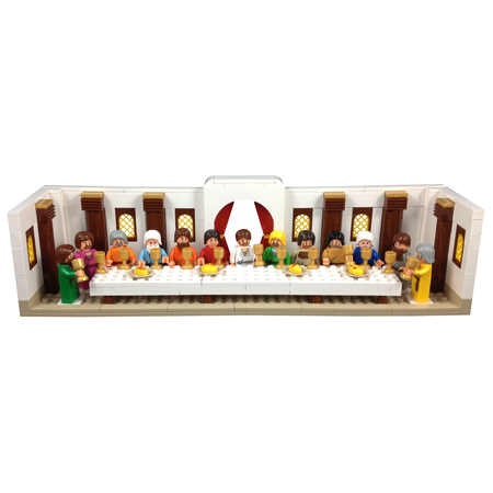 Religious Last supper Easter block play set kids
