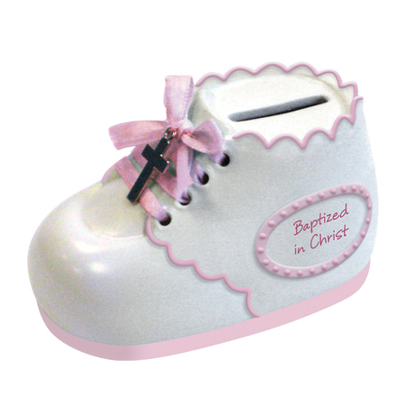 Girl Baptized In Christ Boot Bank gift