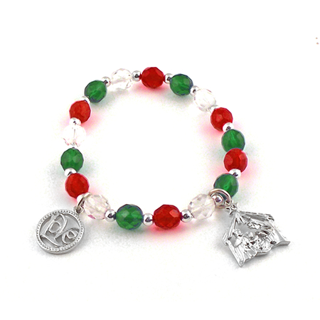 Beaded Nativity charm bracelets
