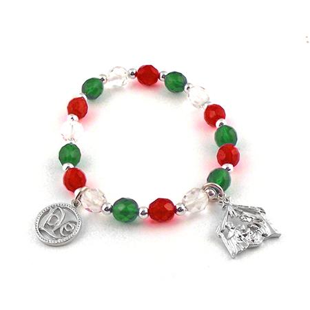 Beaded Nativity charm bracelets