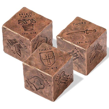 Armor of God decorative cube