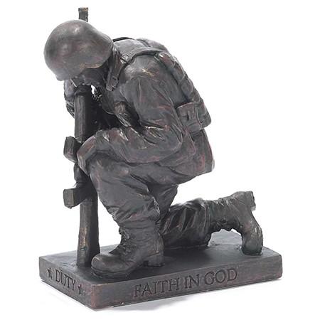 Praying Soldier Figurine