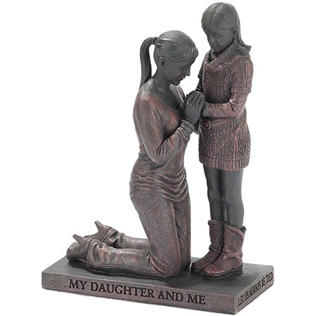 Mother and Daughter praying figure