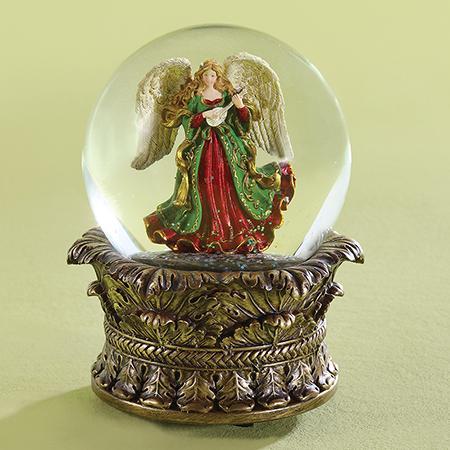 Christian Christmas musical snow globe