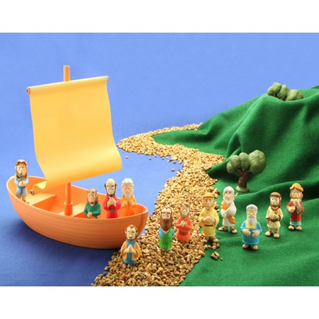 Jesus and disciples boat action figures