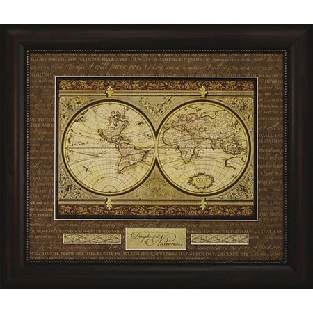 Make Disciples of all nations Christian framed map print