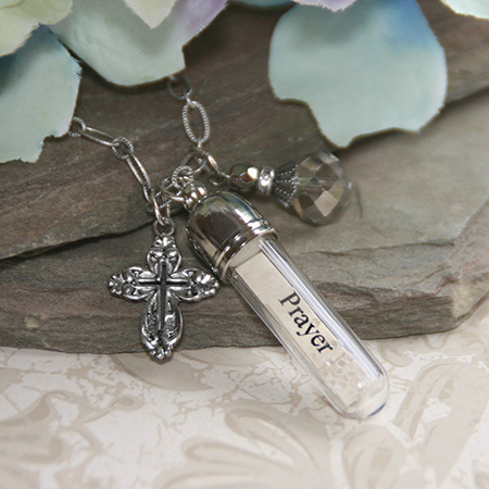 Prayer Changes Things Message In A Bottle Necklace