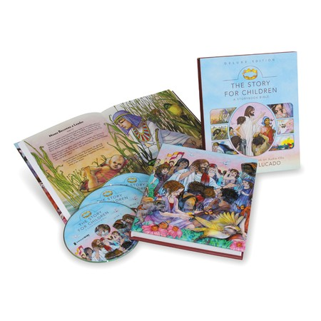 Bible story book and cd gift set kids