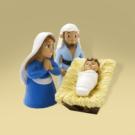 Birth of Baby Jesus action figures