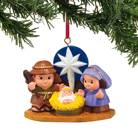 Little People Christmas Nativity Ornament