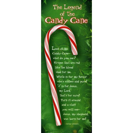 Candy Cane poem bookmarks