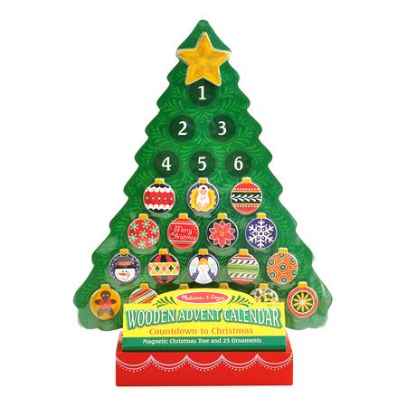 Wooden Advent Calendar Christmas Tree