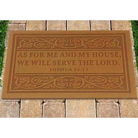 Scripture Me and my house Door Mat