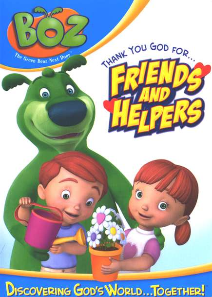 Boz the Green Bear Next Door: Thank You, God, for Friends and  Helpers DVD