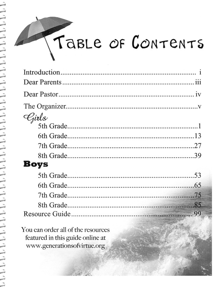 Against the Tide Curriculum Guide, Middle School Edition