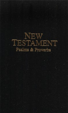 KJV Deluxe Pocket New Testament with Psalms and Proverb Black