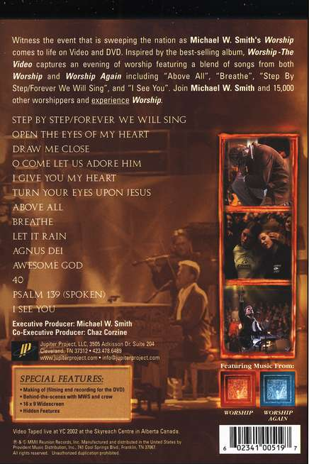 Worship: The Video on DVD