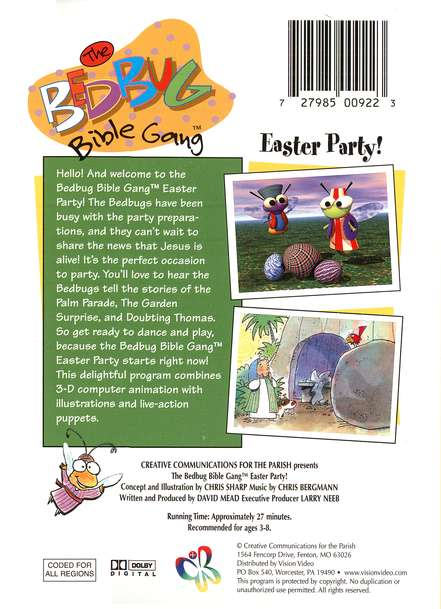 The Bedbug Bible Gang ®: Easter Party! DVD