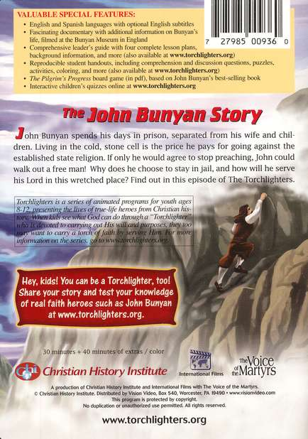 The Torchlighters Series: The John Bunyan Story, DVD