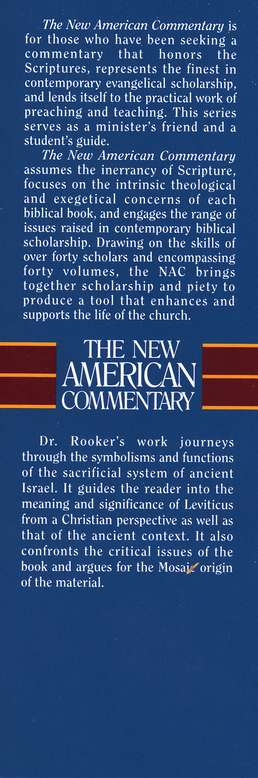 Leviticus: New American Commentary [NAC]