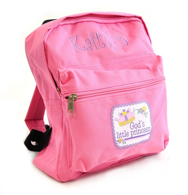 Personalized, God's Little Princess Kids Backpack